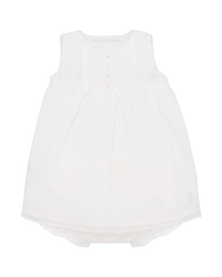 Pili Carrera Girl's Lace Trim Sleeveless Dress w/ Bloomers, Size 3-18 Months