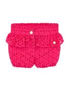 Pili Carrera Girl's Eyelet Ruffle Trim Bubble Shorts,
