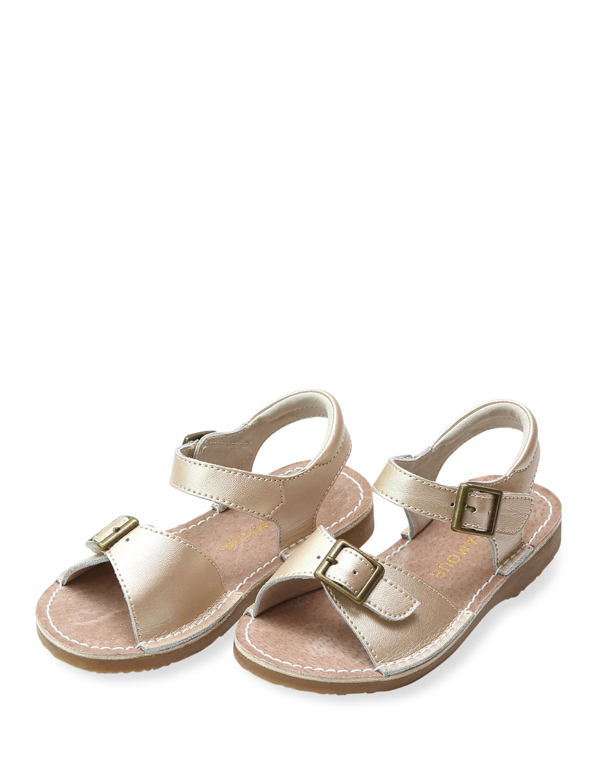 Olivia Leather Buckle Sandals