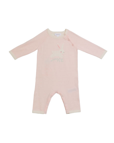 Angel Dear Bunny Intarsia Knit Coverall, Size 0-12 Months