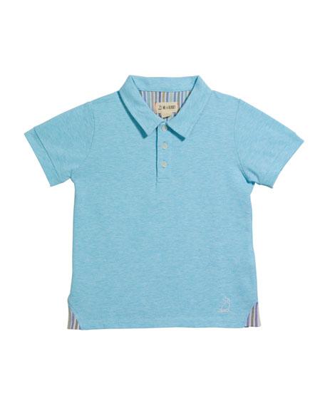 Me & Henry Boy's Cotton Polo Shirt w/ Children's Book, 3T-10