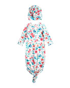 Angel Dear Girl's Vintage Floral Knotted Gown w/