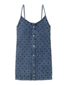 DL1961 Premium Denim Girl's Ellis Dotted Sleeveless Denim