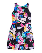 Milly Minis Anabelle Bouquet Faille Dress, Size 7-16