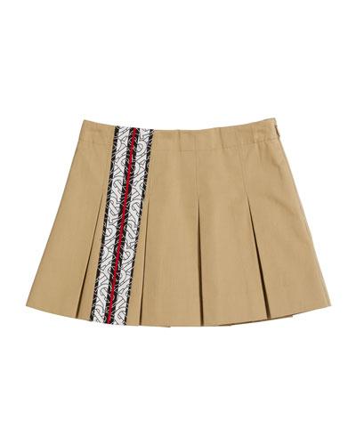 n-57h Next Ivory Striped Linen Blend Pocket Skirt Size 14