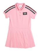 Burberry Kayleigh Monogram Stripe Print Polo Shirt Dress,