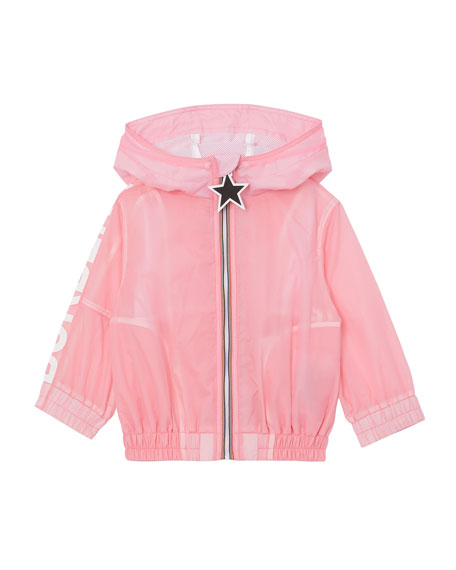 Burberry Girl's Mini Thorley Wind-Resistant Hooded Jacket, Size 12M-2