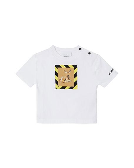 Burberry Girl's Mini Renley Deer Graphic T-Shirt, Size 12M-2