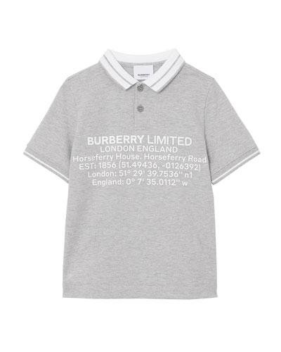 6 White johnnie-O Boys Polo Shirt