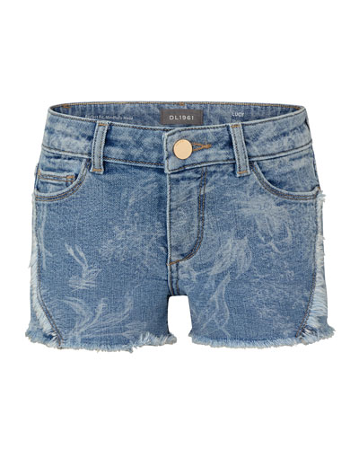 Girl's Lucy Cutoff Denim Shorts, Size 10