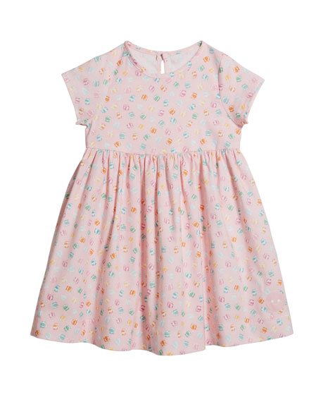 Smiling Button Girl's Sunday Presents Short-Sleeve Dress, Size 0-10