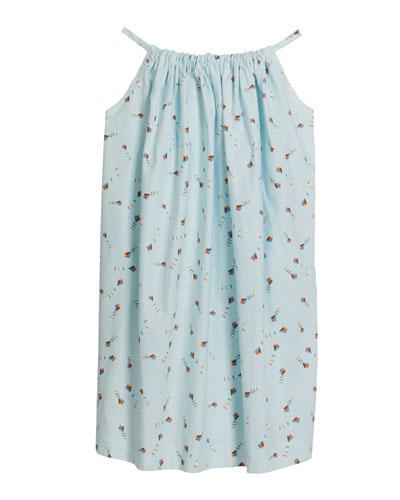 Girl's Beachie Kites Print Halter Dress, Size 18M-10