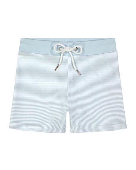 Petit Peony Boy's Nantucket Stripe Swim Shorts, Size 12M-8