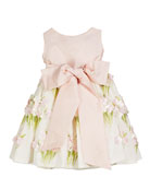 Susanne Lively Solid Bow Front Dress w/ Floral
