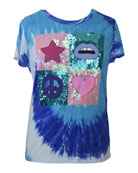 Flowers by Zoe Girl's Sequin Embellished Tie-Die Graphic
