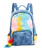 Bari Lynn Girl's Acid-Washed Denim and Tie-Dye Quilted