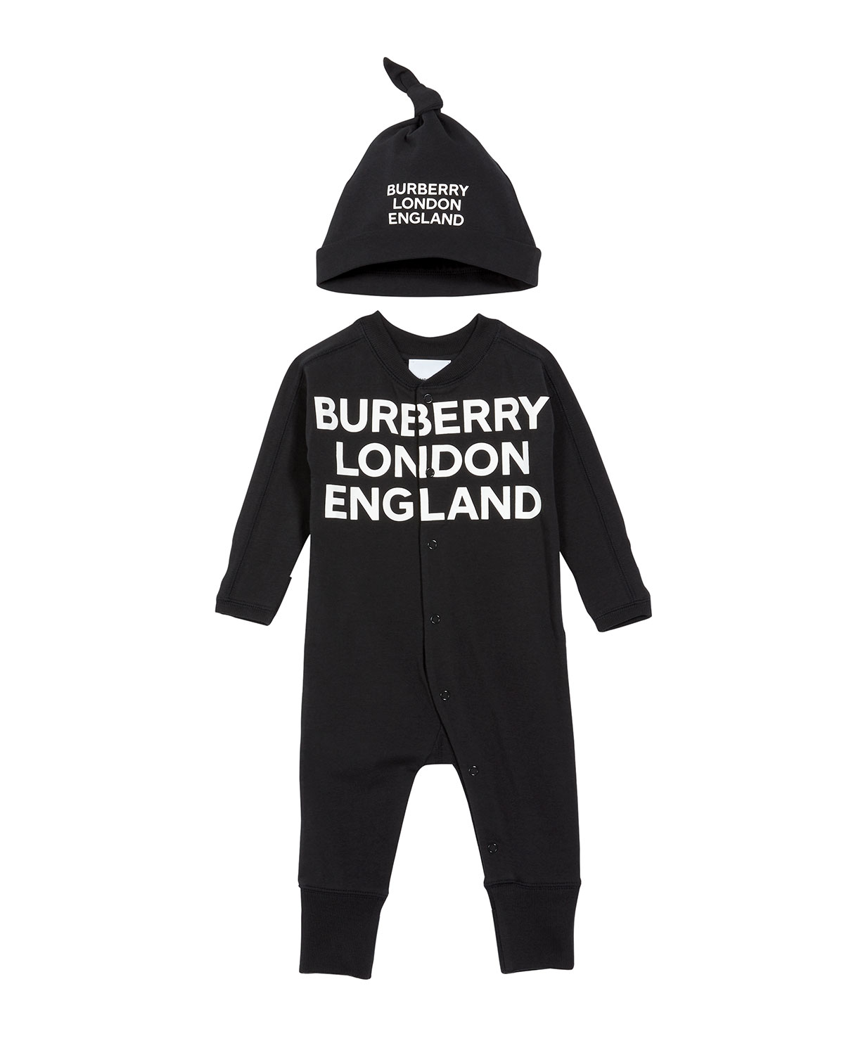 Burberry CLEO LOGO COVERALL W/ KNOTTED HAT