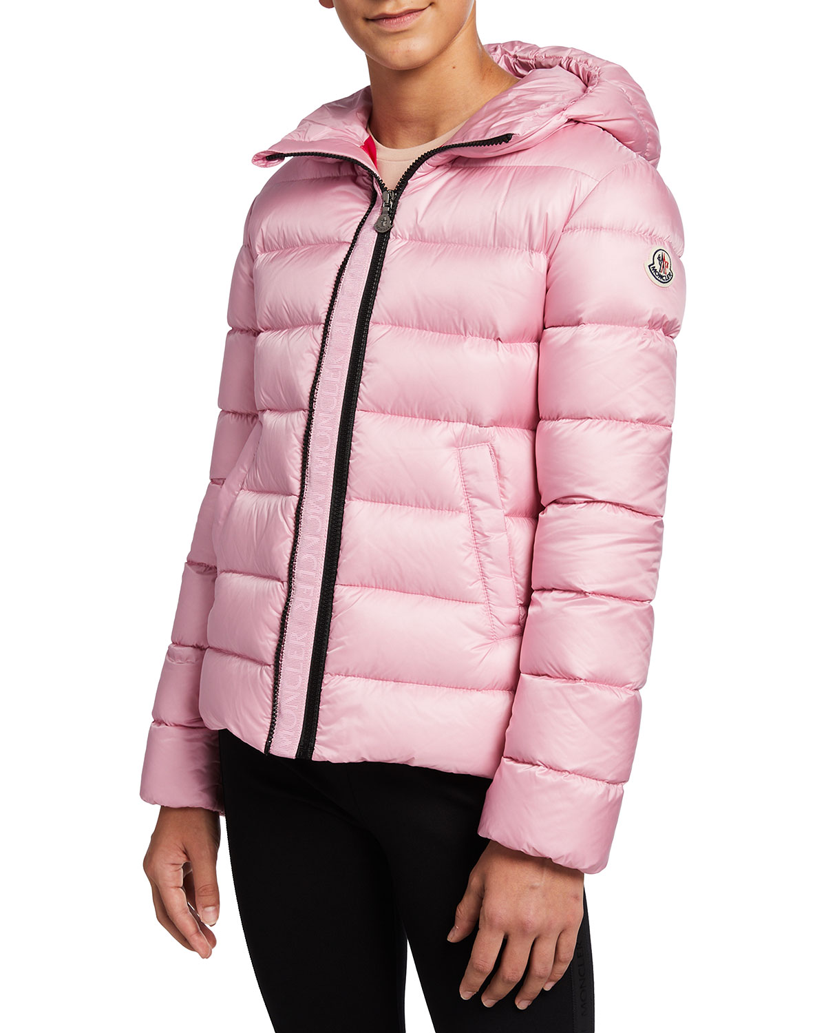 Moncler ALITHIA QUILTED HOODED PUFFER JACKET