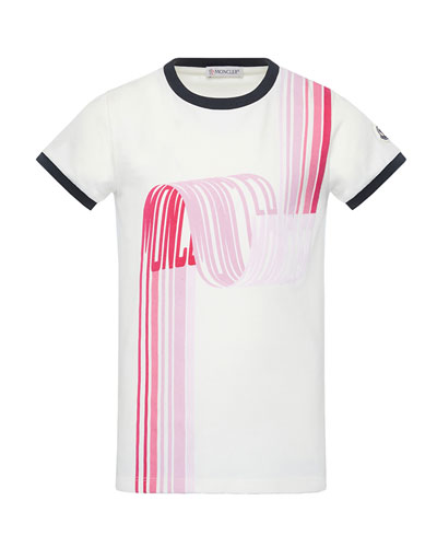 Girl's Short-Sleeve Scribbled Logo T-Shirt, Size 8-14