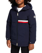 Moncler Boy's Piscace Hooded Parka Jacket, Size 4-6