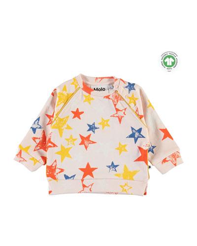 Girl's Dicte Super Stars Printed Sweatshirt, Size 6-24 Months