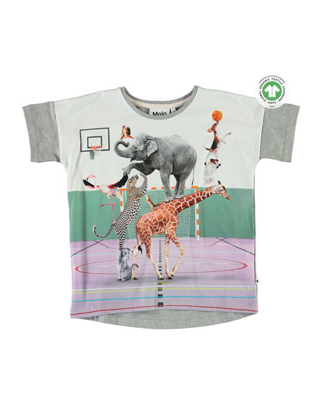 Molo Raeesa Animal Pyramid Graphic T-Shirt, Size 3-10
