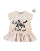 Molo Girl's Campa Roller Skating Animal Friends Dress,