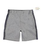 Molo Boy's Axon Side Stripe Heathered Shorts, Size