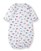 Kissy Kissy Awesome Airplanes Convertible Sleep Gown, Size