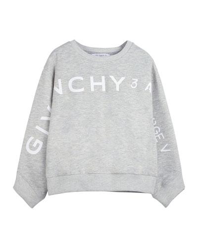 Girl's Logo Address Heathered Sweatshirt, Size 12-14