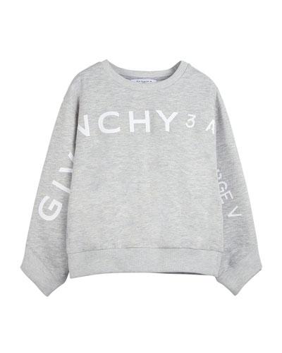 Girl's Logo Address Heathered Sweatshirt, Size 4-10