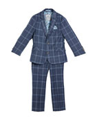 Appaman Boy's Two-Piece Mod Check Suit, Size 2-14