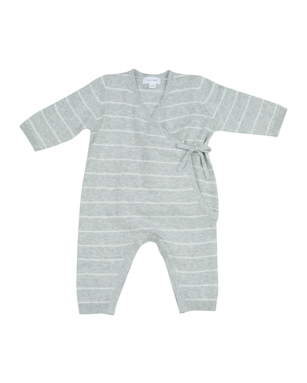 Kimono Wrap Stripe Knit Coverall, Size 0-6 Months