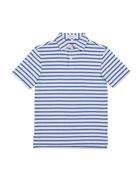 Peter Millar Boy's Harvey Stripe Performance Polo Shirt,