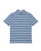 Peter Millar Boy's Edmund Multicolor Stripe Polo Shirt,