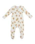 Angel Dear Kid's Cookie Printed Terry Zipper Footie