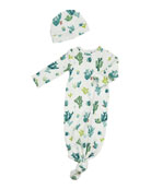 Angel Dear Uni Cactus Printed Gown & Baby