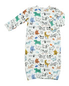Angel Dear Boy's Cool Pups Printed Gown, Size