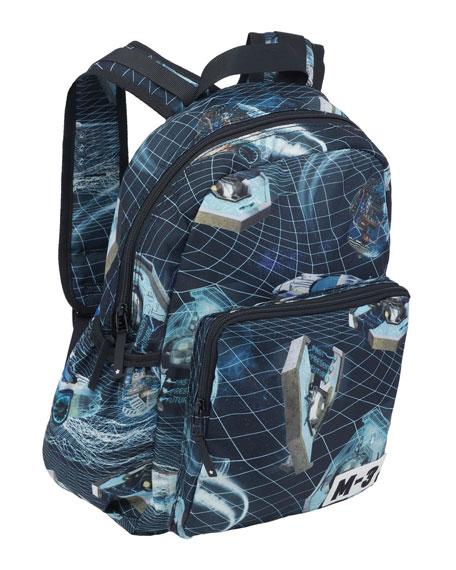 Molo Kid's Time Machine Printed Big Backpack