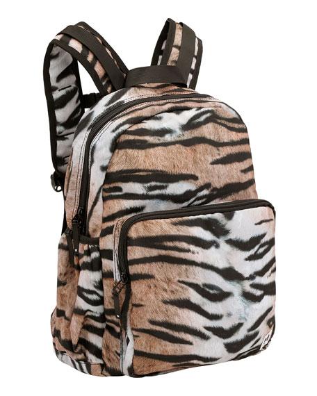 Molo Kid's Tiger Stripe Print Big Backpack