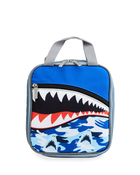 Iscream Boy's Shark Teeth Lunch Tote