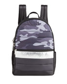 Iscream Boy's Camo-Print Quilted Puffer Backpack