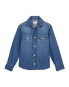 Brunello Cucinelli Boy's Denim Western Shirt, Size 4-6