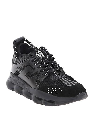 all black versace sneakers