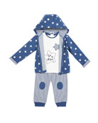 Mayoral Boy's Star Printed Three-Piece Outfit Set, Size