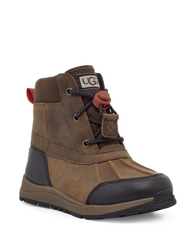 Boy's Turlock Suede & Leather Toggle Waterproof Boots, Toddler/Kids