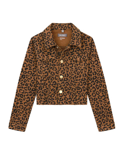 Girl's Manning Leopard-Print Jacket, Size S-L