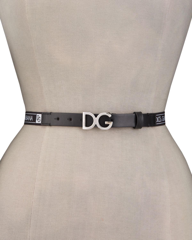 Kid's DG Leather Buckle Belt