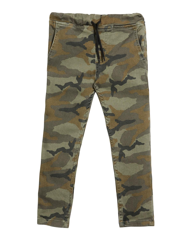 Joe's Jeans BOY'S CAMO-PRINT DRAWSTRING JOGGER PANTS