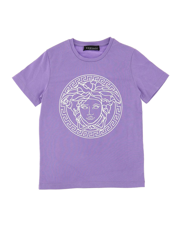 Versace GIRL'S MEDUSA SHORT-SLEEVE T-SHIRT